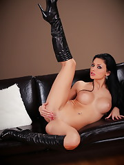 Aletta Ocean strips out of her fur coat