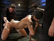 ash is pushed to the point of breaking, fucked mercilessly, with one orgasm after another ripped from her body, only to be surprised by a visitor