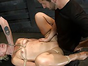 Dylan is fucked hard and made to deep throat all day in preparation for her live show.