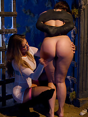 Sinn Sage gets spanked and gang banged by three women just for WhippedAss.com!