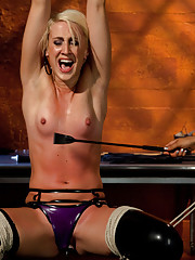 Dylan Ryan returns to WP to overcome her fear of electrical play! Lesbian domination, bondage, and more!