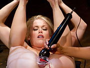 Ash Hollywood is taught an electrifying lesson about what it means to be in porn. Her pussy is stuffed while electricity controls every moving muscle.