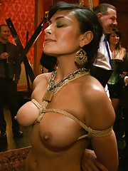 The finale kicks off with a wicked zipper and ends with slave pistol airtight,  slave cock in her pussy and ass, and The Steward in her mouth.