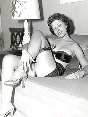 Cute exotic dancers posing naked in fifties