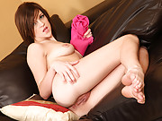Naughty tease Lacey Leveah finger pumps her needy pussy from behind