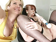 Kinky british matures masturbating