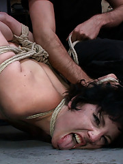 Coral Aorta gets turned into a filthy slut. Covered in motor oil, put on display, and fucked for everyone to see!