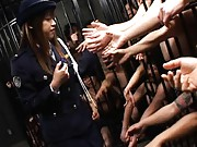 Asuka Sawaguchi is a police woman wanted by many men in cooler