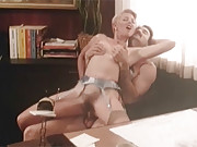 Two retro beauties love riding large cocks
