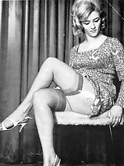 Sexy ladies with very high heels in fifties