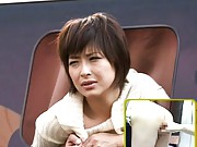 Nana Natsume Asian is fingered in slit with head out of limo