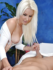 Sweet naughty girl Stevie fucks her massage client after a rub down