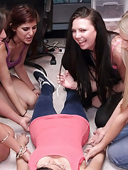 Fucking horny college teens ride cock and get cumfaced after a dorm room spin the bottle sex party