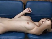 Risa Kasumi Asian is nailed in hairy coochie and gets cum on face