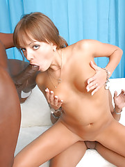 From Russia, Nika's petite, gorgeous and excited to try some black American cock.