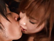 Rio Fujisaki Asian is fucked held in arms and more doggy style
