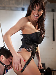 Mistress Gia Dimarco rides slaves face to orgasm and squirts he delectable juices all over his pathetic face.