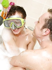 Diving sweetheart sucking a strangers cock