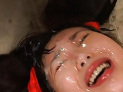 Aya Shiraishi Asian in sports equipment gets dick and cum on face