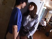 Misuzu Shiratori hides at job to stroke dick and have slit rubbed