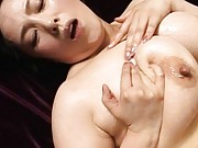 Chiharu Mizushima has nipples and huge jugs squeezed by fellow