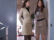 Anri Suzuki Asian sucks boss phallus to get her a job at his firm