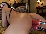 Amateur girl does her first ever ass fucking and even tries a DP with machines - getting her ass stretched out for the fist time in her life!