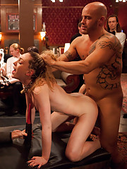 Piggy is tormented more and put through the paces by Derrick Pierce, James Deen, and all of the House slaves.