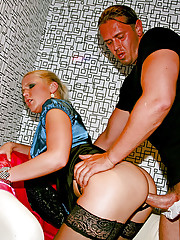 Drunk hotties fucked hard by guys at a club