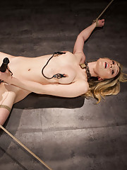 On her final day of training, piggy is made to endure brutal orgasms, an extreme suspension, and a sadistic sybian ride.