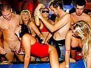 Crazy drunk bikini babes shagged by strippers