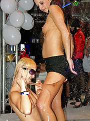Hot chicks at a horny groupsex party screwing
