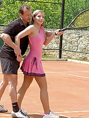 Sporty daring tennis girls nailed hardcore