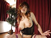 Waka Satoh Asian with huge nude hooters rides stiffy like crazy