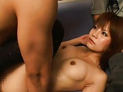 Japanese AV Model with perfect round tits is strongly screwed