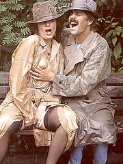 Dirty seventies couple want to do it outdoor
