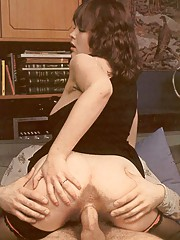 Thick retro lady loves to please a big cock