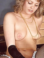 Hairy seventies lady pleasing a young stud