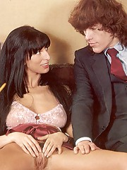 Shagging two horny and hairy seventies ladies