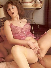 Seventies lady enjoys a big cock inside her