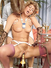 Classy seventies lady enjoys a stiffy penis