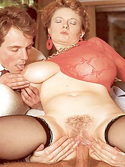 Huge retro mellons creamed with sticky semen