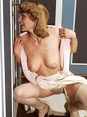 Horny seventies lady joins a steamy threesome