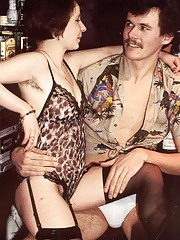 Two drunk seventies couples playing sex games