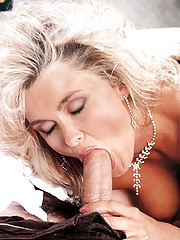 Seventies blonde loves two big dicks at once