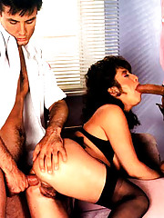 Seventies lady fucked in her hairy bumhole