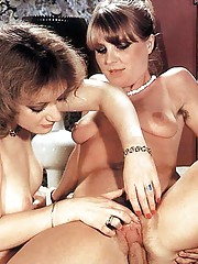 Two seventies snatches satisfied with a cock