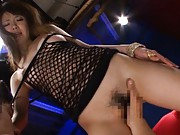 Miho Imamura Asian in fishnet blouse has cunt licked and rubbed