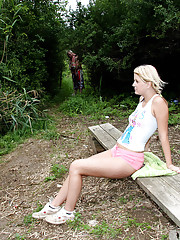 Senior forest runner fucks a young sexy chick