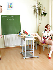 A very naughty schoolgirl fucked by teacher